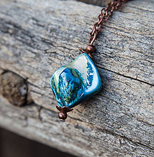 Náhrdelníky - Rozbúrené more - náhrdelník - 6205711_