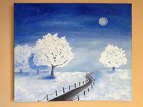 Obrazy - Zimná krajinka pokoja 50x60 - 6206144_