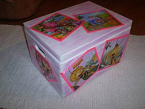Detské doplnky - Truhlica na hračky pre dievčatko - 6206388_