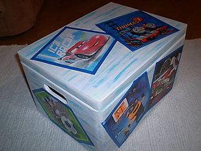 Detské doplnky - Truhlica na hračky pre chlapčeka - 6206396_