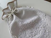 Úžitkový textil - ľanové vrecko na chlieb - 6206844_