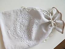 Úžitkový textil - ľanové vrecko na chlieb - 6206845_