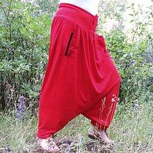 Nohavice - Turky červený bambus B - 6207153_
