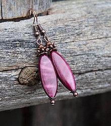 Náušnice - Elegantná perleť - purpurová - 6207191_