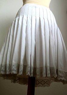 Sukne - riasená spodnička ako po babičke ku kroju - 6207809_
