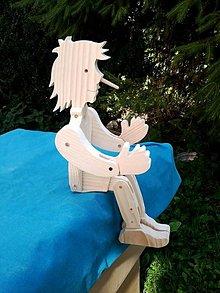 Hračky - Pinocchio drevený - 6208220_