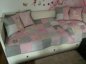 Úžitkový textil - Prehoz na dievčenskú posteľ - baletka pre Táničku :-) - 6208989_