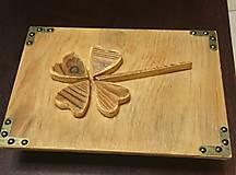 Rámiky - Drevený štvorlístok pre šťastie - 6208524_