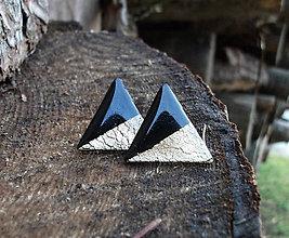 Náušnice - Maxi trojuholníky 25 mm MINIMAL - 6209259_