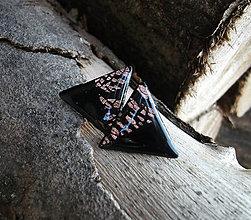 Náušnice - Maxi trojuholníky 25 mm MINIMAL (bronz) - 6209323_