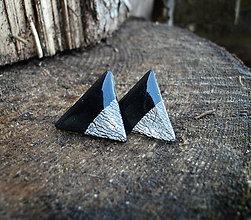 Náušnice - Maxi trojuholníky 25 mm MINIMAL (striebro) - 6209372_