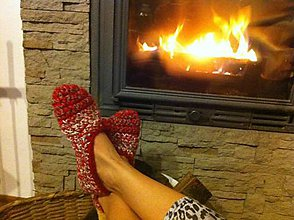 Obuv - Rozprávkové Vianoce - papuče - 6209204_