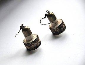 Náušnice - natur cork ornament - 6210017_