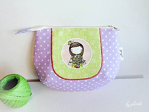 Taštičky - Len ja a môj svet - fialová kozmetická taštička - 6209753_