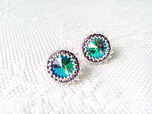 Náušnice - Summer paradise earrings (Rhodium earrings / Swarovski crystal) - 6210770_