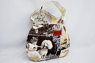 Kabelky - Kabelka do ruky so starodávnymi fotkami psov - 6210876_