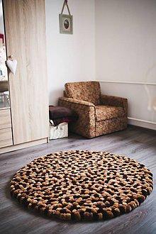 Úžitkový textil - Dekoračný koberec POM v zemitých tónoch - 6210485_