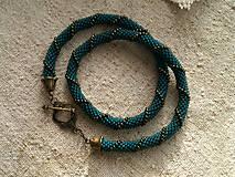 Náhrdelníky - smaragdovozelený - 6210998_