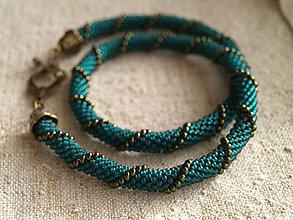 Náhrdelníky - smaragdovozelený - 6210997_