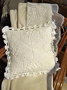 Úžitkový textil - vankúšik biely sen - 6211982_