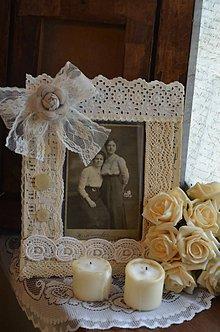 Rámiky - Vintage rámik na fotografie - 6213399_