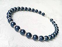 Náhrdelníky - Moonlight Star necklace (Swarovski pearls/Silver) - 6213014_