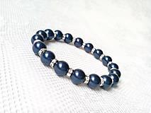Náramky - Moonlight Star bracelet (Swarovski pearls/Silver) - 6213037_