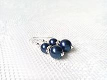 Náušnice - Moonlight Star earrings (Swarovski pearls / Silver) - 6213057_