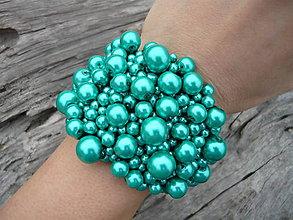 Náramky - Perličkový náramek Svěží Tyrkys - 6213930_