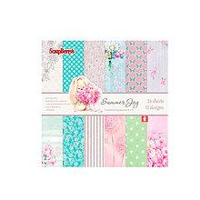 Papier - Sada papierov 15,2x15,2cm Summer Joy - 6213854_