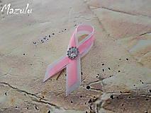 Pierka - svadobné pierko v ružovoBielom /malé/ - 6213135_