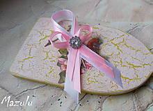 Pierka - svadobné pierko ružovoBiele - 6213188_