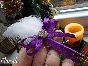 Pierka - svadobné pierko fialové - 6213082_