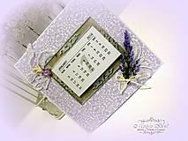 Papiernictvo - Levanduľový kalendár - 6215172_