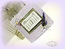 Papiernictvo - Levanduľový kalendár - 6215173_