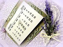 Papiernictvo - Levanduľový kalendár - 6215174_