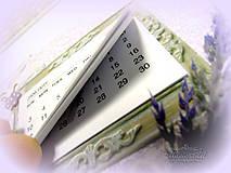 Papiernictvo - Levanduľový kalendár - 6215175_