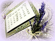 Papiernictvo - Levanduľový kalendár - 6215176_