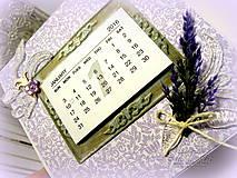Papiernictvo - Levanduľový kalendár - 6215177_