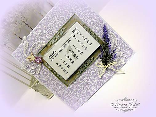 Levanduľový kalendár