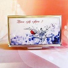 Krabičky - púzdro na vizitky Lienka - 6215091_