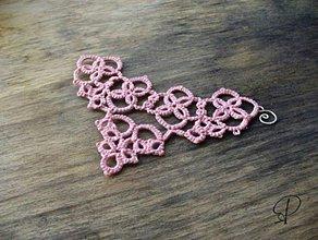 Náramky - frivolitkový ružový - 6214281_