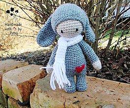 Hračky - Bábika zajko- sivá - 6215455_