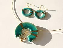 Sady šperkov - Tyrkysovo guličkový set - 6215524_