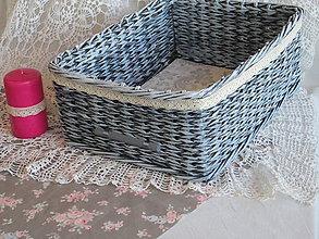 Košíky - Romantika v šedom - 6215816_