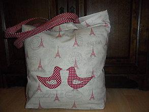 Nákupné tašky - Vtáčiky v Paríži. - 6216584_