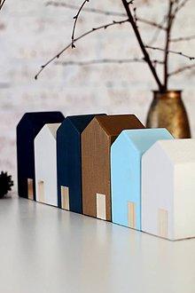 Dekorácie - Drevené domčeky SCANDI WINTER TOWN - 6216588_