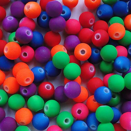 MATT plast 6mm-MIX-50ks