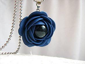Náhrdelníky - Tajemství noci, náhrdelník - 6215581_