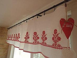 Úžitkový textil - Záclonka vyšívaná I. - 6217491_